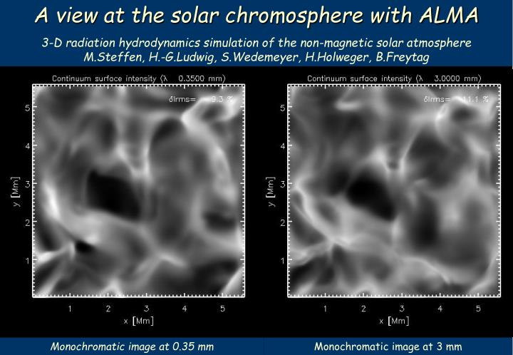 A view at the solar chromosphere with ALMA