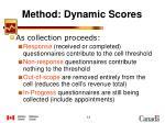 method dynamic scores1