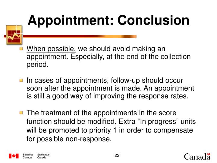 Appointment: Conclusion