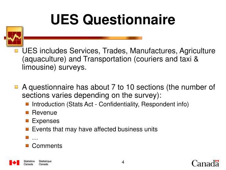 UES Questionnaire