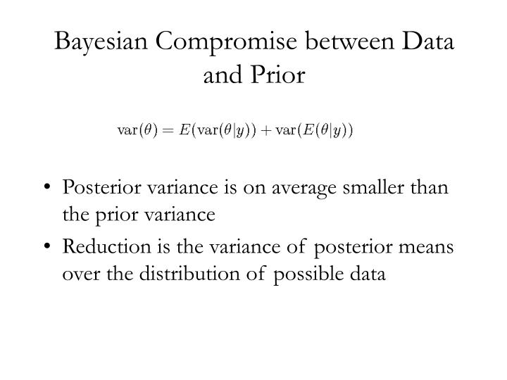 Bayesian Compromise between Data and Prior