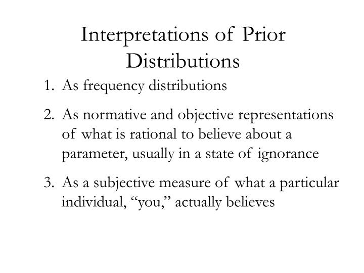 Interpretations of Prior Distributions