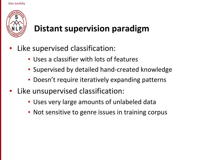Distant supervision paradigm