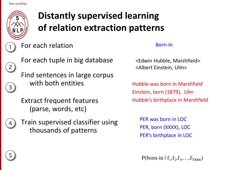 Distantly supervised learning