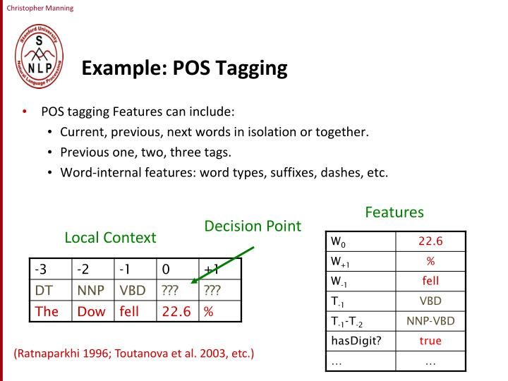 Example: POS Tagging