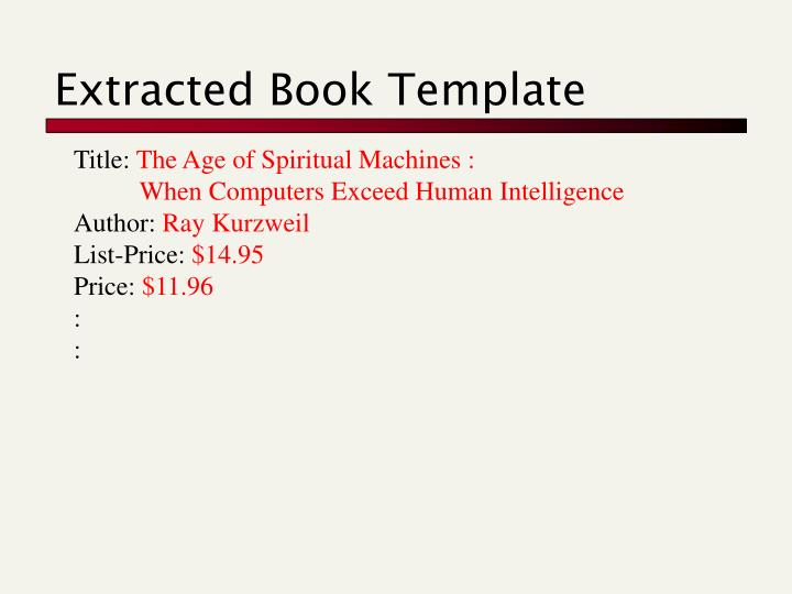 Extracted Book Template