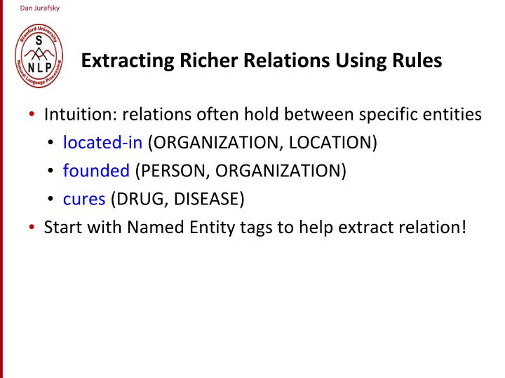 Extracting Richer Relations Using Rules