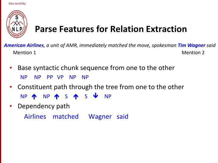 Parse Features for Relation Extraction