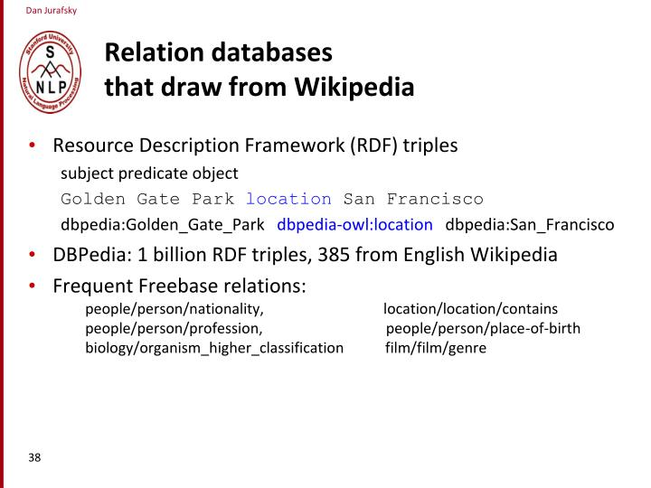 Relation databases