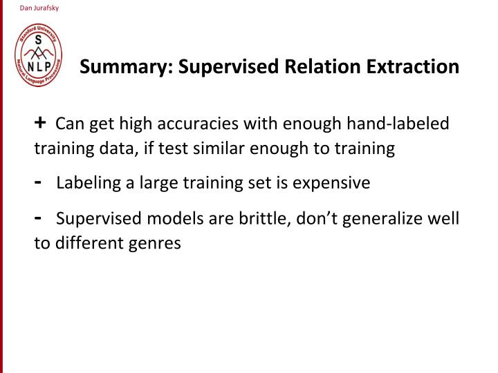 Summary: Supervised Relation Extraction