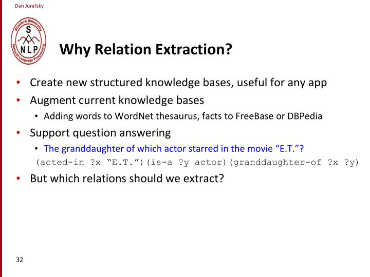 Why Relation Extraction?