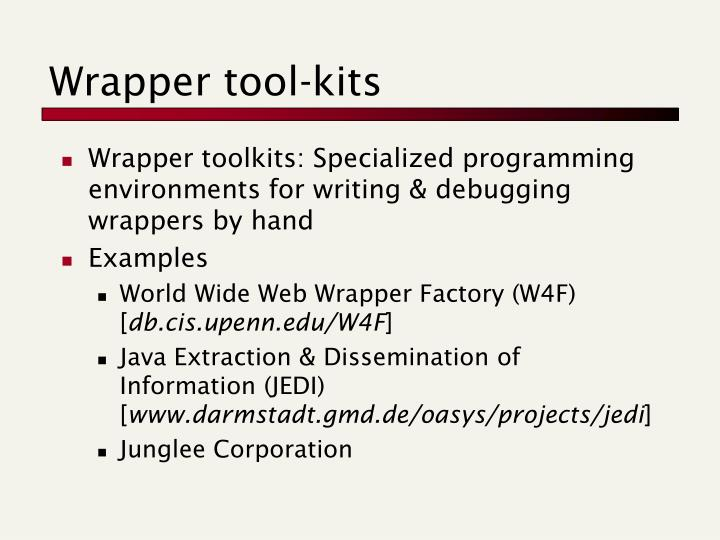Wrapper tool-kits