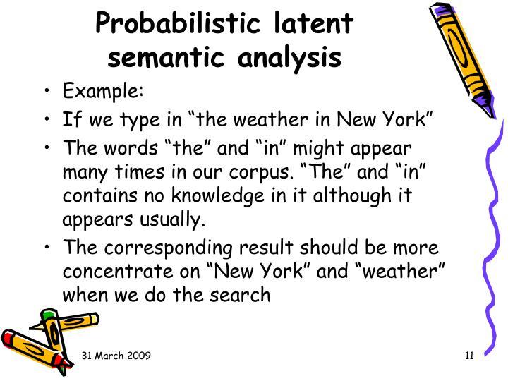 Probabilistic latent