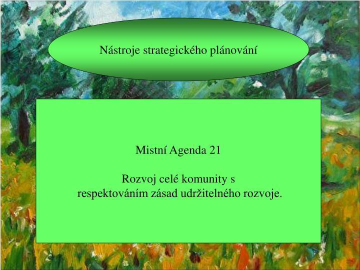 Nástroje strategického plánování