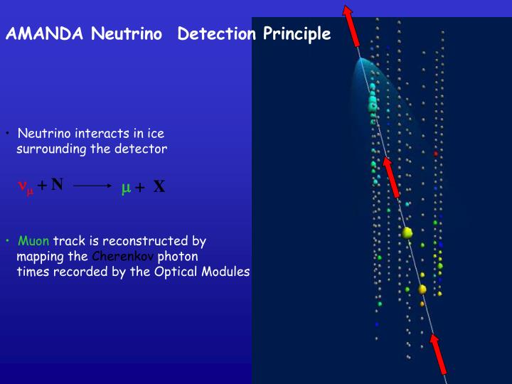 AMANDA Neutrino  Detection Principle