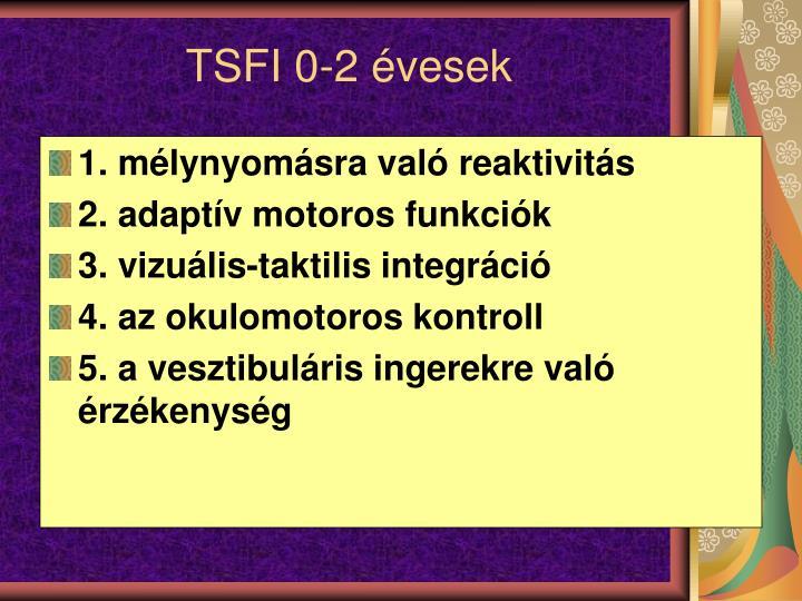 TSFI 0-2 évesek