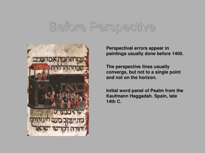 Before Perspective