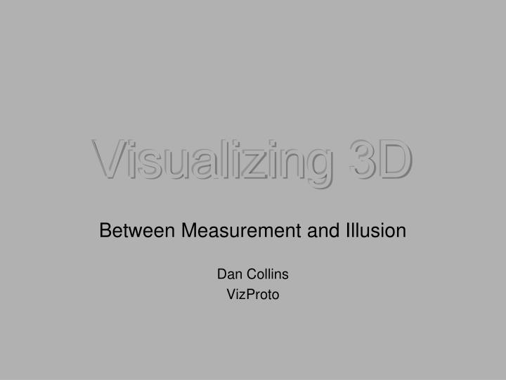 Visualizing 3d