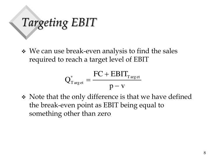 Targeting EBIT