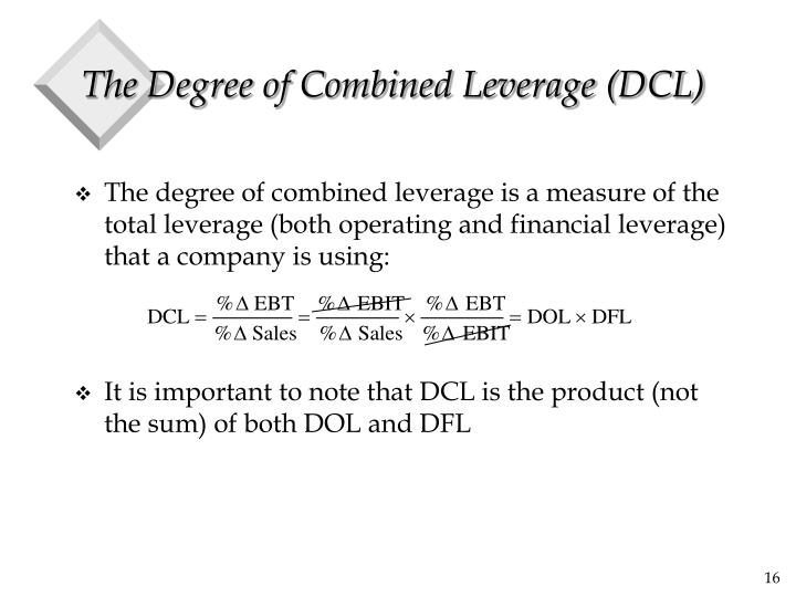 The Degree of Combined Leverage (DCL)
