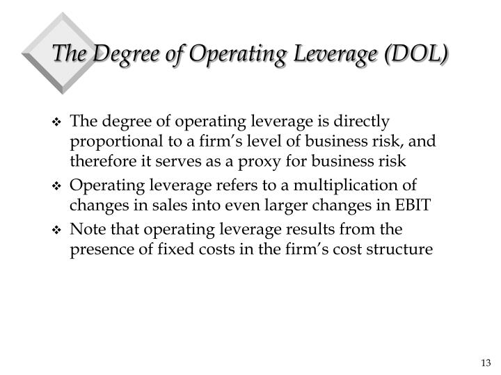 The Degree of Operating Leverage (DOL)