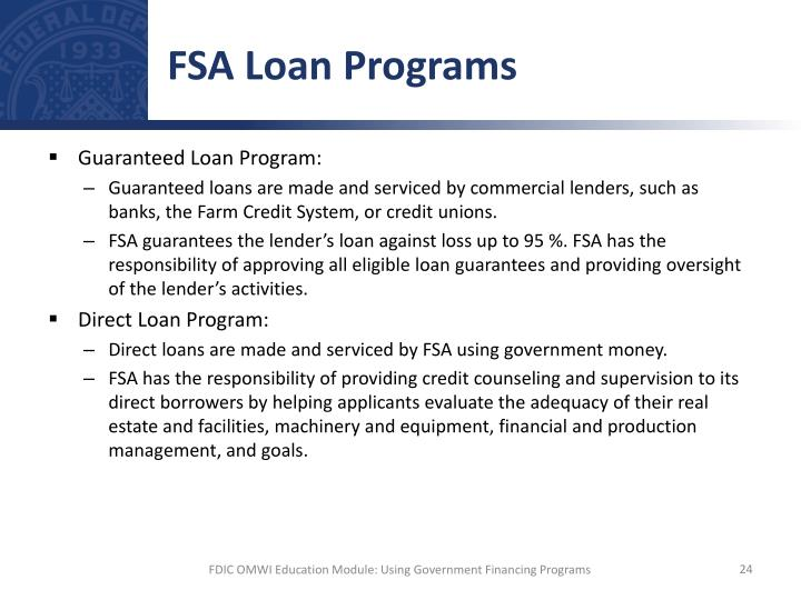 FSA Loan Programs