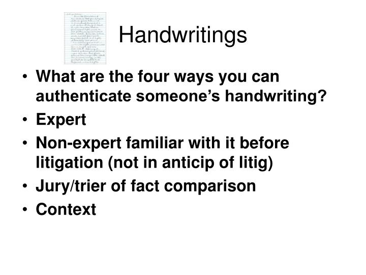 Handwritings