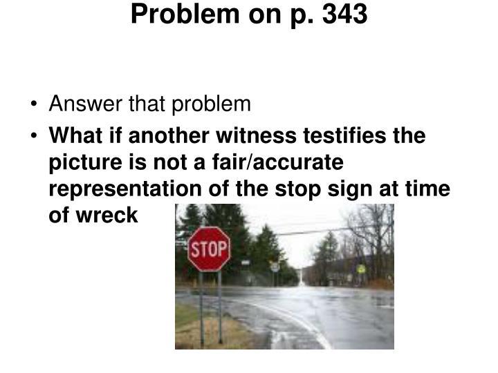 Problem on p. 343