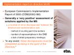 implementation report on directive 94 45
