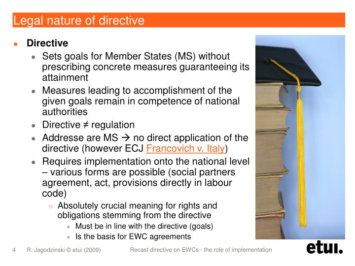 Legal nature of directive