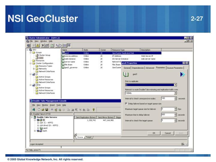 NSI GeoCluster