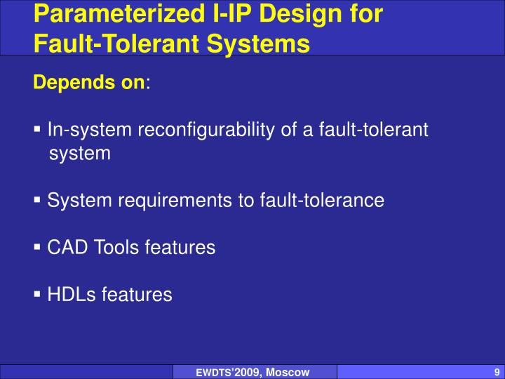 Parameterized I-IP Design for