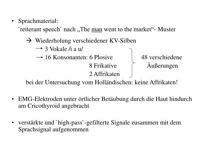 Sprachmaterial: