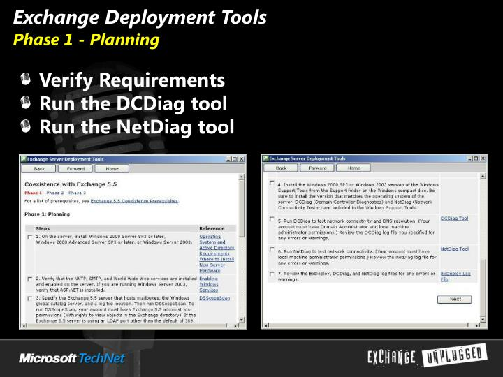 Exchange Deployment Tools