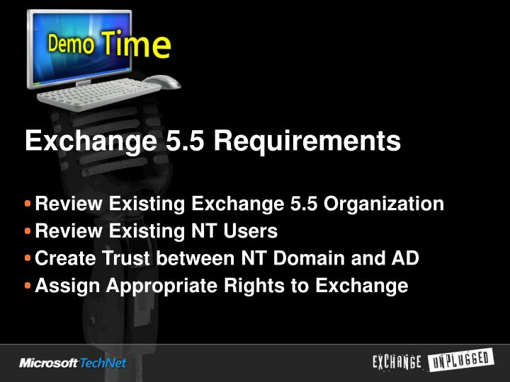 Exchange 5.5 Requirements