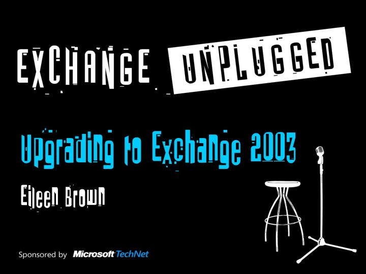 Upgrading to Exchange 2003