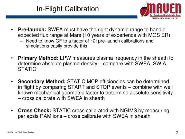 In-Flight Calibration