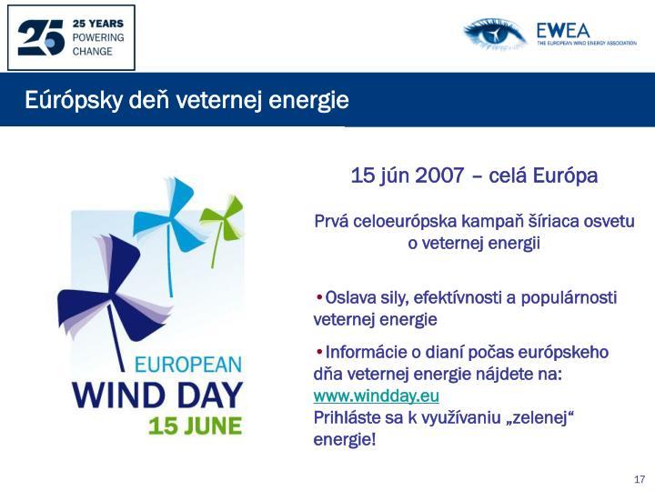 Eúrópsky deň veternej energie