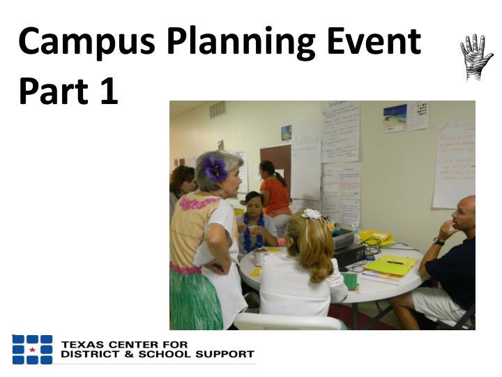 Campus Planning Event