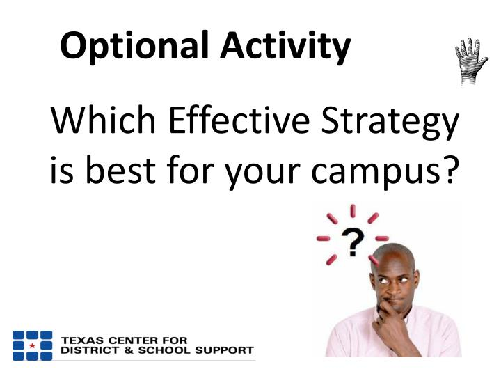 Which Effective Strategy is best for