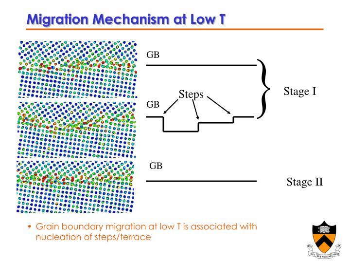 Migration Mechanism at Low T