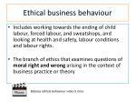 ethical business behaviour