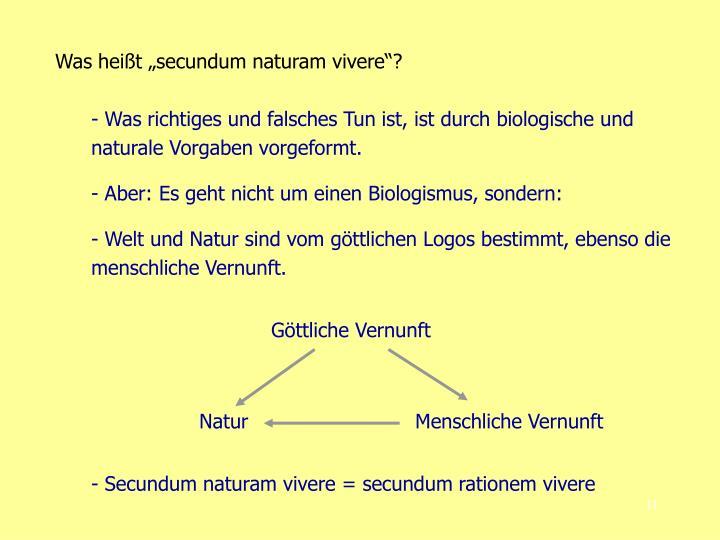 "Was heißt ""secundum naturam vivere""?"