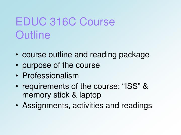 EDUC 316C Course Outline