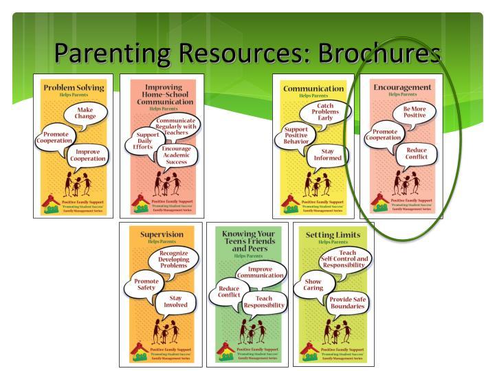 Parenting Resources: Brochures