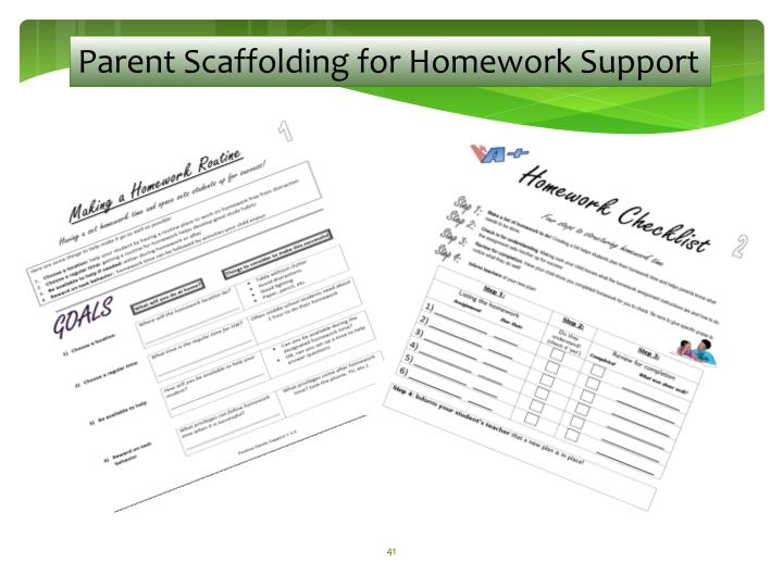 Parent Scaffolding for Homework Support