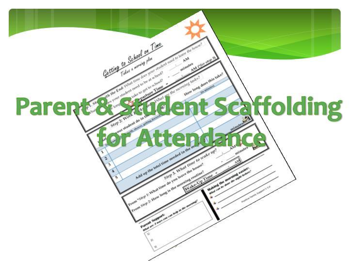 Parent & Student Scaffolding