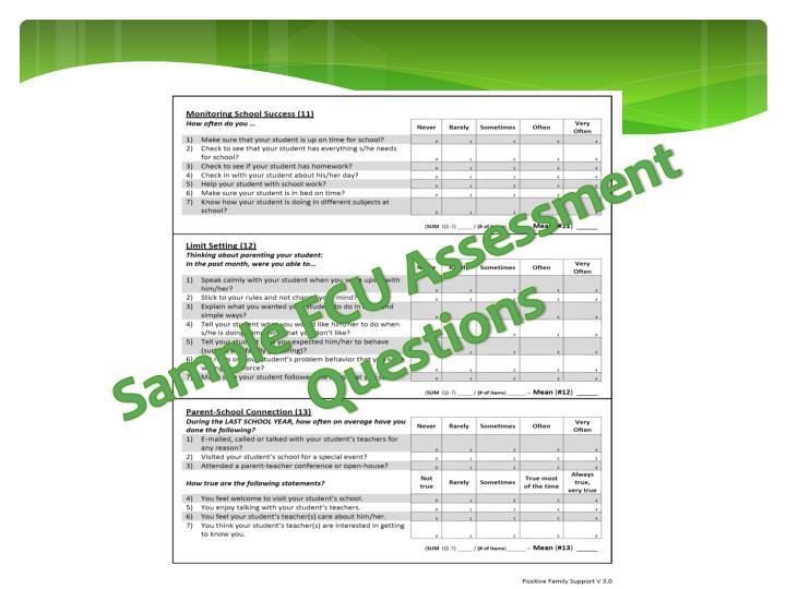Sample FCU Assessment Questions