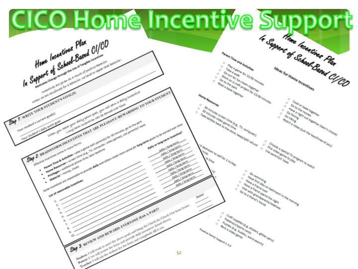 CICO Home Incentive Support