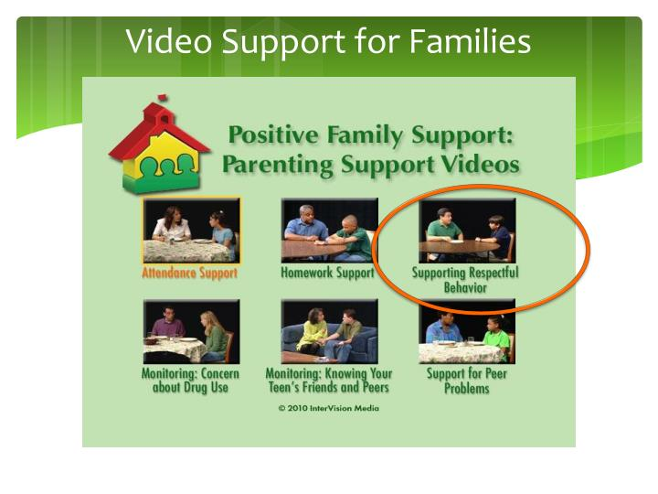 Video Support for Families